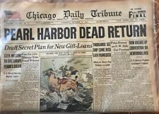 Chicago Tribune Newspaper Pearl Harbor October 1947 Certificate