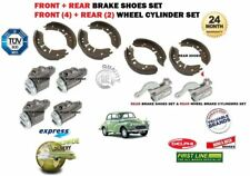 MORRIS MOGGY MINOR 1000 1962-1971 NEW FRONT & REAR BRAKE SHOES + WHEEL CYLINDERS