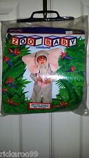 Clown Alley 13513 2 Piece Gray Elephant Halloween Costume Size 12-24 Months  EUC