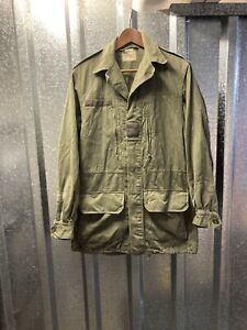 Vintage French Military Green 1972 Army Utility Workwear Field Jacket 92L Large