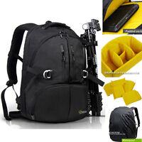 "Waterproof DSLR SLR Camera Backpack 17"" Laptop Travel Bag Padded Daypack Hot N"