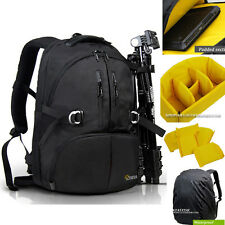 "Waterproof DSLR SLR Camera Backpack 17"" Laptop Travel Bag Padded Daypack Hot N"