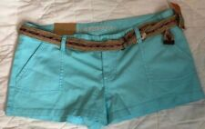 New With Tags mossimo Sky Blue Shorts 13 W Belt