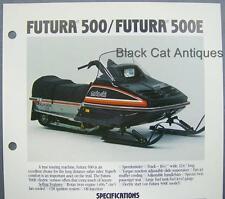 Orig Vintage Bombardier Futura 500/500E Moto-Ski Snowmobile Dealer Sales Sheet