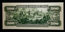 Proof Print or Intaglio Impression by BEP Back of 1918 $500 Federal Reserve Note