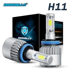 2018 NEW 1300W 195000LM IRONWALL LED HEADLIGHT BULB KIT H11 H8 H9 6000K LOW BEAM
