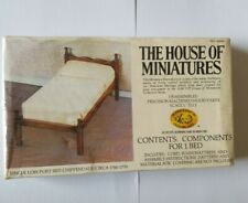 The House of Miniatures Low Post Bed Chippendale 40060 Dollhouse Furniture