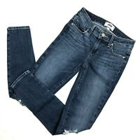 Paige Jeans Skinny Crop womens size 24 Distressed Verdugo Ankle Dark Denim