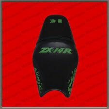 SALE CUSTOM Seat Cover KAWASAKI NINJA ZX-14R (ZZR1400) 12+ black+green 001