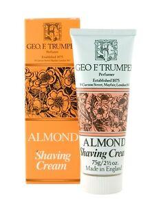 Geo F. Trumper ALMOND Shaving Cream, Stand Up Tube, 75 grams