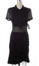 "Black Cotton Crochet Dress - Sz -S ""Sea NY"" - NWOT"