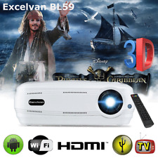 Wifi Android 6.0 Full HD 1080P LED Projector Home Theater 3D 3200 Lumen BT HDMI
