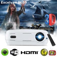 Full HD 1080P WiFi Android6.0 Projektor 3D LED 3200LM HDMI Heimkino Beamer BT 8G