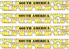 SRM Press Border SOUTH AMERICA Title TRAVEL Scrapbook Stickers 4 Sheets
