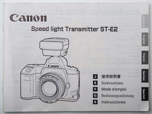 Bedienungsanleitung Canon Speed light Transmitter ST-E2 / ST - E2