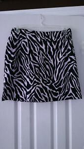 NWT Ladies EP PRO BLACK & WHITE ZEBRA Golf Skort Skirt - sizes 6 & 10