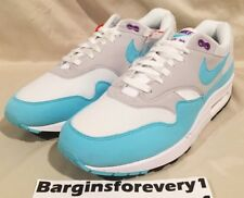 New Nike Air Max 1 Anniversary - Size 11.5 - White/Aqua-Neutral Grey 908375-105