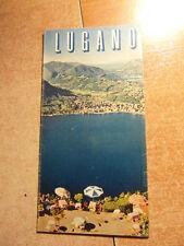 Brochure Prospect Vintage Tourisme LUGANO SUISSE Depliant couleur vers 1950