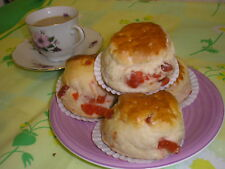 24 HOME MADE CHERRY  SCONES    Free Postage   Family Bakery Shop