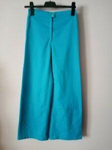 Schlaghose Damen True Vintage 70er in blau Baumwoll Mischung gr. 34