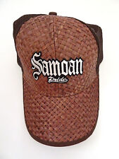 Lauhala Baseball Cap with Samoan Pride - Limited Special Edition - Brown