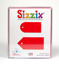 SIZZIX LARGE (RED) TAG SET DIE 38-0236 PLASTIC CASE
