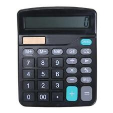 12 Digital Desktop Calculator Basic Office Business Home Solar Big Large Display