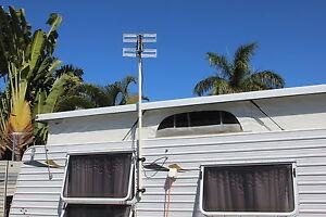 "Caravan or RV UHF TV Antenna ""RTL-10"" with plug-in amplifier"