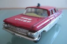 GORGI TOYS 1:43 CHEVROLET impala FIRE CHIEF 1963