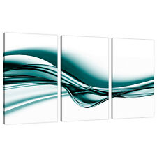 Set of 3 Teal Canvas Wall Art Prints UK Living Bed Room Pictures 3033