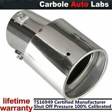 Car Rear Chrome Stainless Steel Round Pickup Exhaust Pipe Tail Muffler Tip Cover