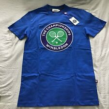 Wimbledon Tennis Official T-Shirt Xs Blue Brand New w/Tags Championship