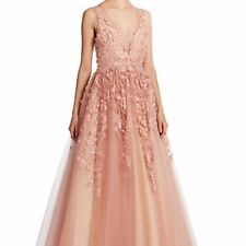 Floral A Line Wedding Gown - Basix Black Label - Light Pink/Blush