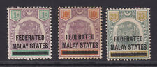 Federated Malay States.1900. SG 1,5 & 6.