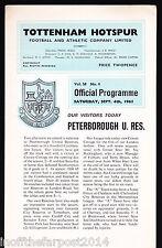 1965/66 tottenham hotspur v peterborough united 04-09-1965 (réserves) london com