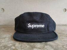 Supreme Napped Canvas Box Logo Camp Cap - Black