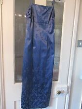 MONSOON TWILIGHT ROYAL BLUE STRAPPY SIZE 10 BROCADE FULL LENGTH DRESS,PARTY,BALL