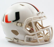 New Miami Hurricanes NCAA Speed Riddell Mini Football Helmet