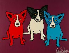 "Blue Dog George Rodrigue     ""Split Personality""   MAKE  OFFER   BA DSS"