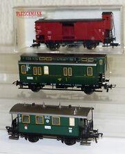 3x Fleischmann Wagen: 5050 und 5052 Personenwagen 5365 Güterwagen H0 sehr gut