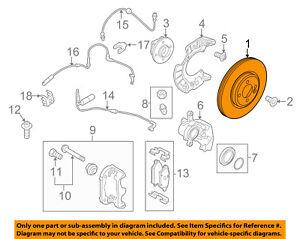MINI OEM 11-15 Cooper Countryman Front Brake-Disc Rotor 34119811537