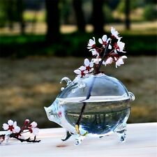 Creative Clear Glass Small Pig Type Table Vase Decoration Crafts Home gb