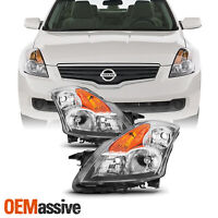 Fits 2007 2008 2009 Altima 4Dr Sedan Clear Headlights Headlamps Replacement Set