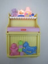 FISHER PRICE Loving Family Dollhouse MUSICAL CHANGING TABLE BABY NURSERY Rare!