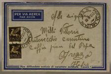 POSTA MILITARE n° 23 BUSTA AFFRANCATA  VIA AEREA GRECIA 2.1.1942 #XP13B