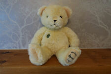 MY FIRST HARRODS TEDDY BEAR WITH GREEN BUTTON EXCELLENT CLEAN CONDITION