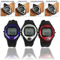 Pulse Heart Rate Monitor Calories Counter Fitness Watch Time Stop Watch Alarm BT