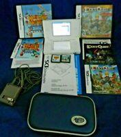 DS Lite Bundle, DS Lite, Case,Charger, Lock's Quest, Mechanic Master 2,Tested,VG