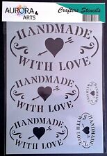 Stencil by Aurora Arts A4 Hand made with love 190mic Mylar craft stencil 181