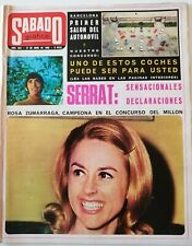 Revista SÁBADO GRÁFICO 604 Rosa Zumarraga Serrat Massiel SEAT 124 LANCIA COUPE